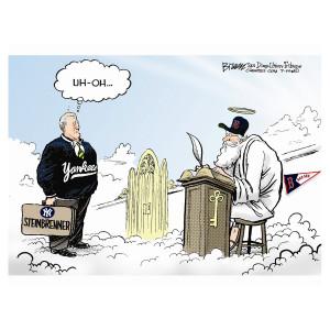 Steinbrenner Cartoon by Steve Breen