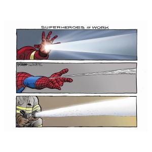 Superheroes by Steve Breen