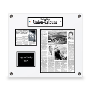 The San Diego Union-Tribune Custom Article Print Plaques