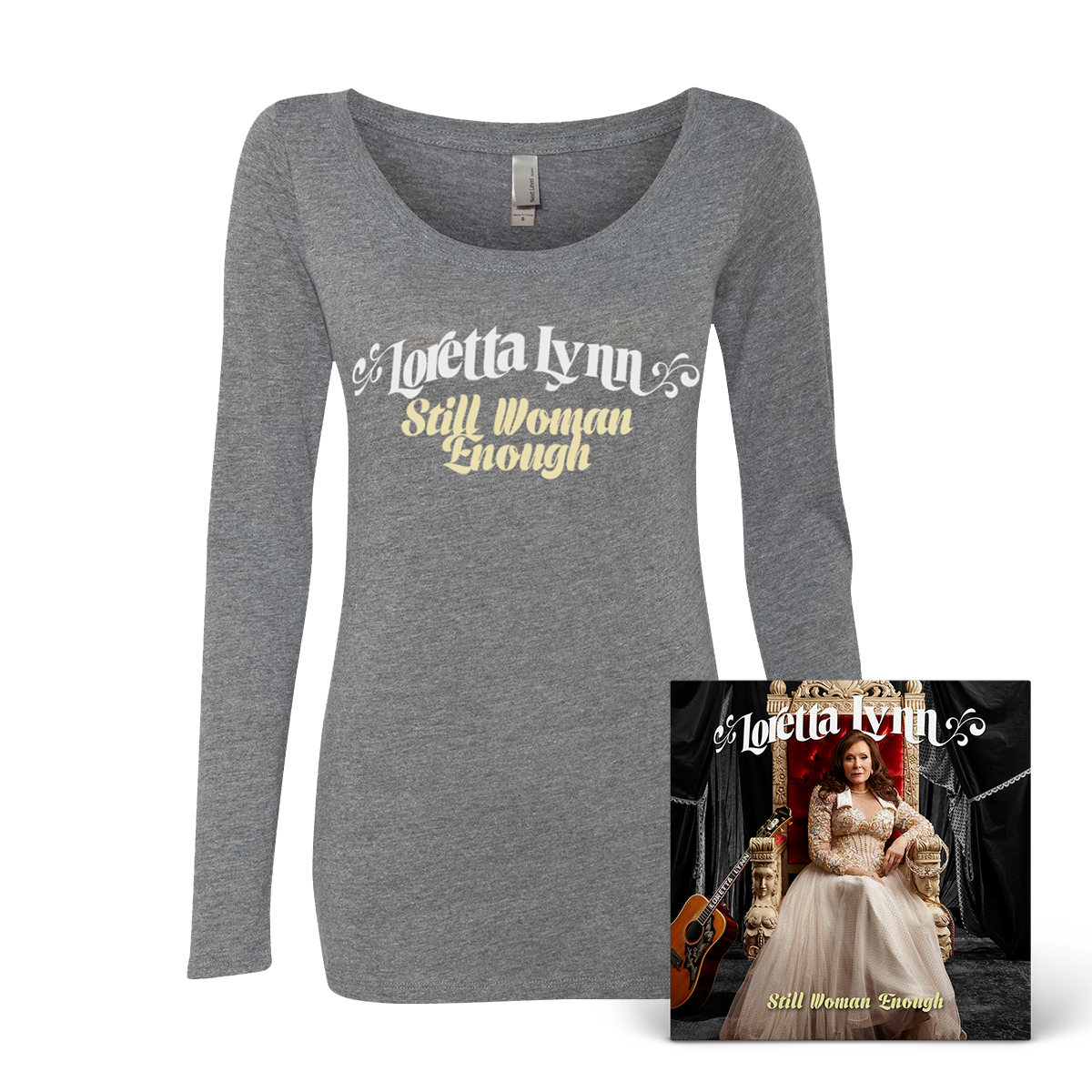 Still Woman Enough Ladies T-Shirt - Grey