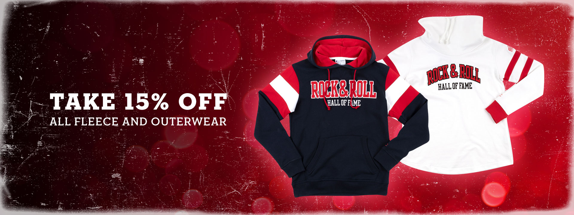 TAKE 15% OFF ALL FLEECE AND OUTERWEAR