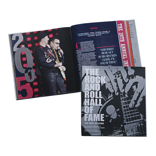 THE ROCK AND ROLL HALL OF FAME: THE FIRST 25 YEARS SOFT COVER BOOK