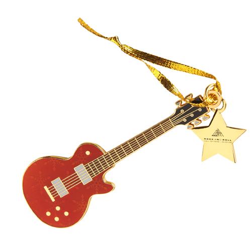 ORNAMENT GUITAR RED W STAR