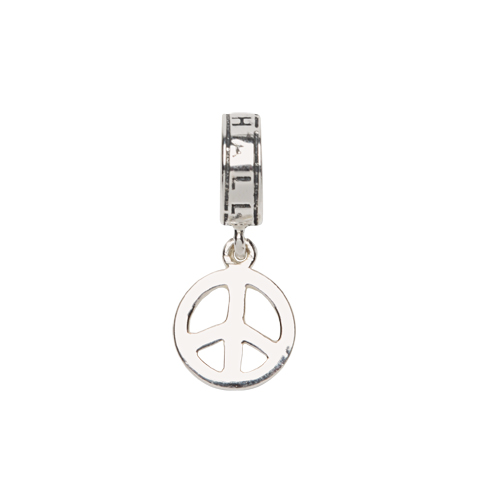 CHARM PEACE SIGN DROP/SS