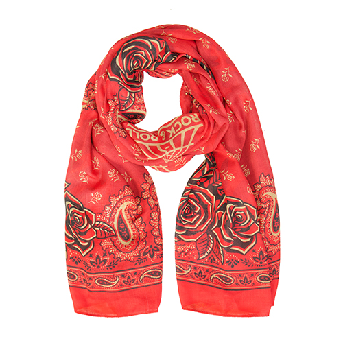 Red Rose Bandana Scarf