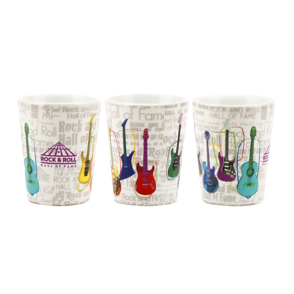 Guitar Collage Shot Glass