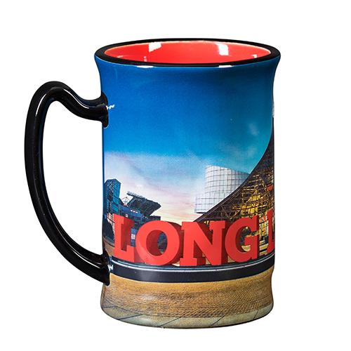 Embossed Long Live Rock Building Mug