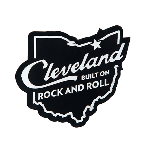 CLEVELAND BUILT ON ROCK & ROLL MAGNET