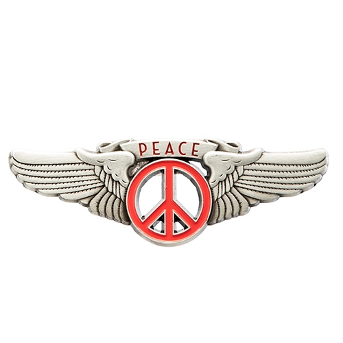 Winged Peace Sign Magnet