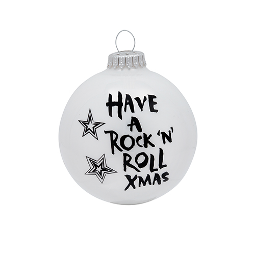 Have A Rock N Roll Xmas Ornament