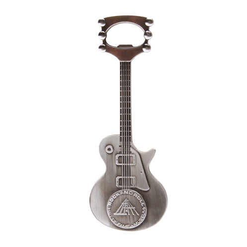 Silver Guitar Bottle Opener