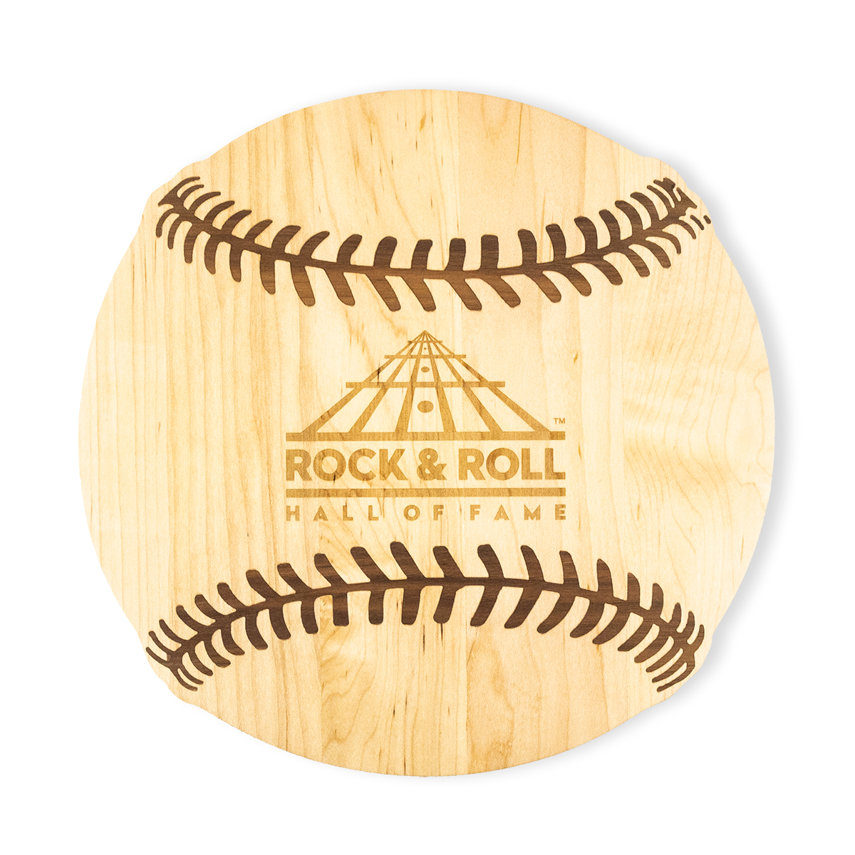 Etched Baseball Wooden Cutting Board