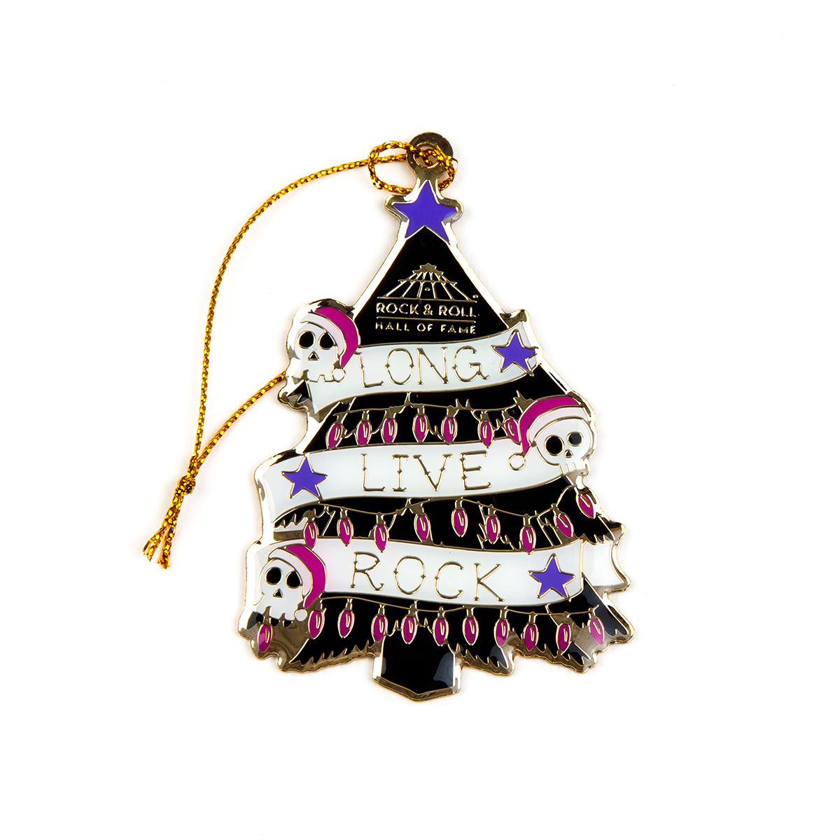 Long Live Rock Punk Tree Ornament