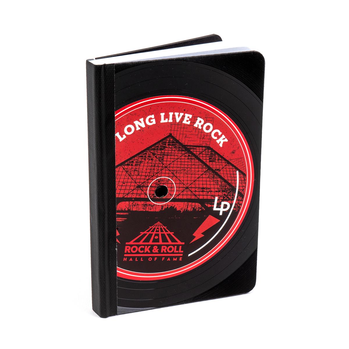 Long Live Rock Vinyl Lp Notebook