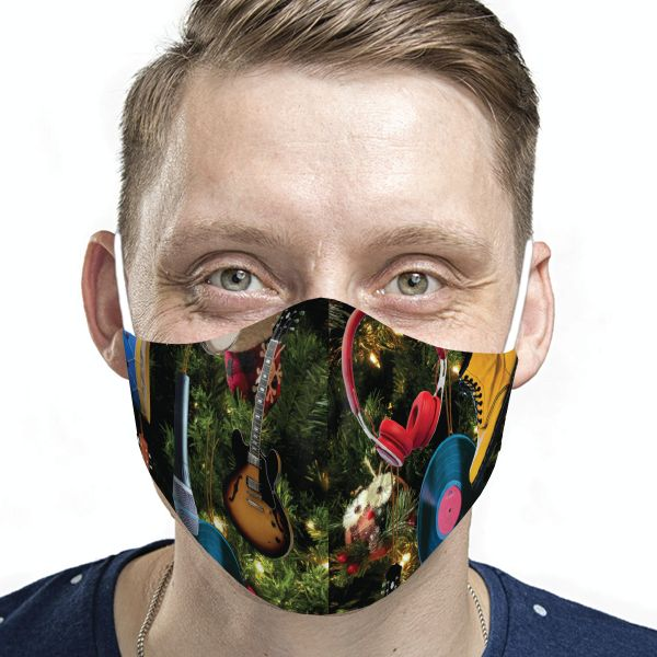 Adult Holiday Ornaments Face Mask