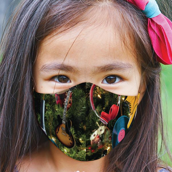 Youth Holiday Ornaments Face Mask