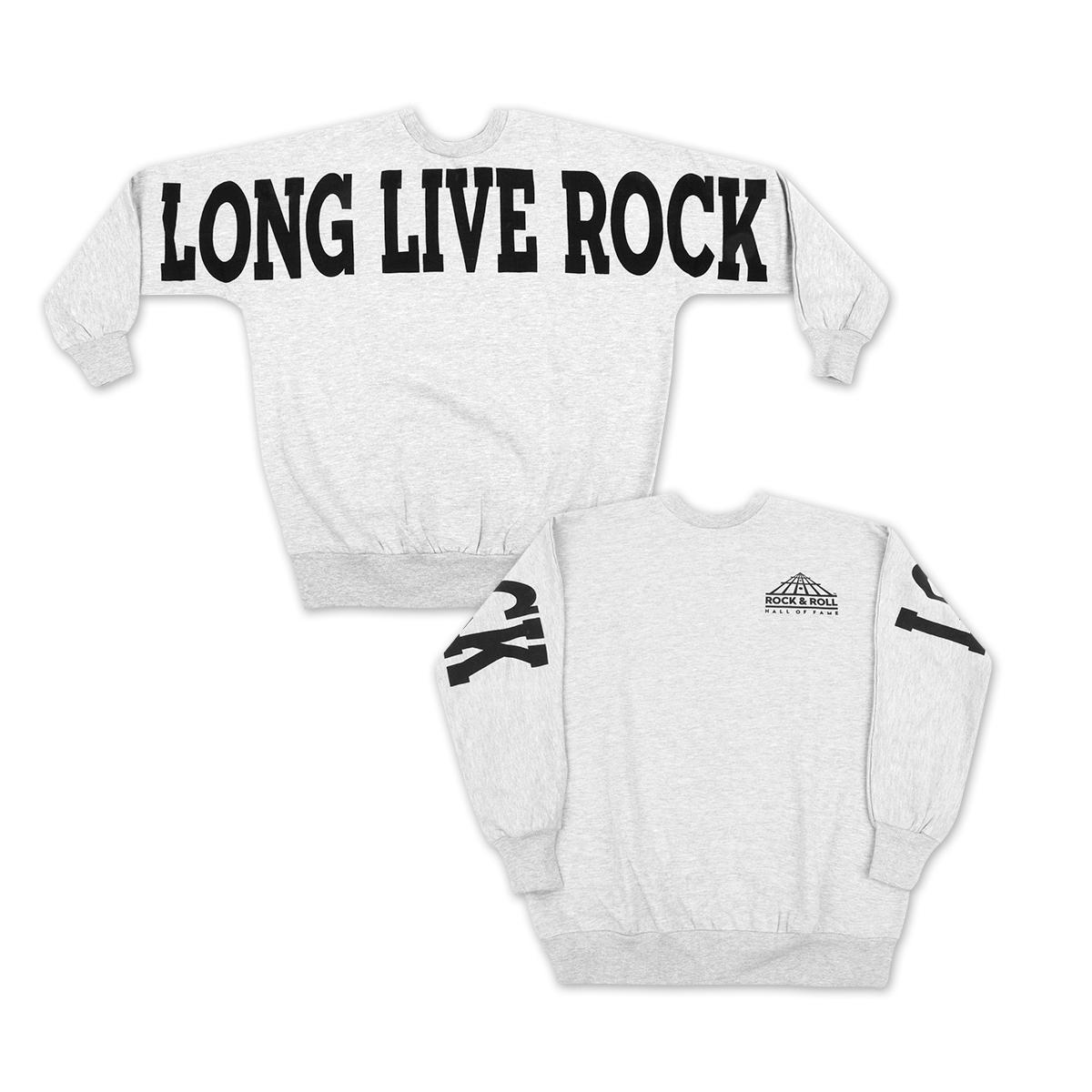 Long Live Rock Ladies Fleece Crew