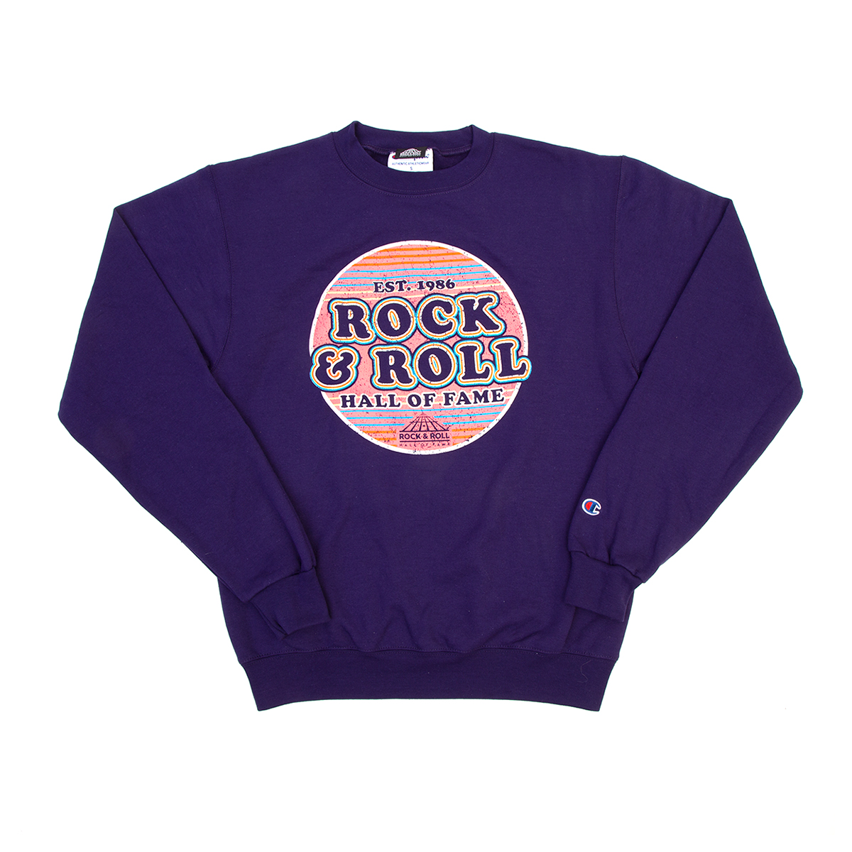 Champion Purple Fleece Crew