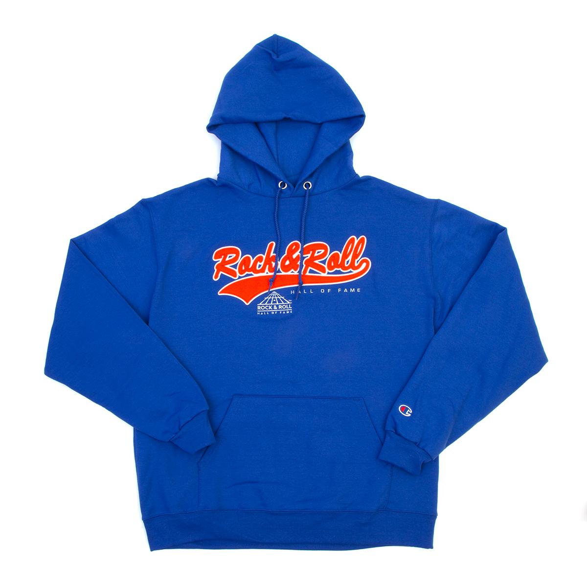 Champion Rock Hall Blue & Orange Applique Hoodie