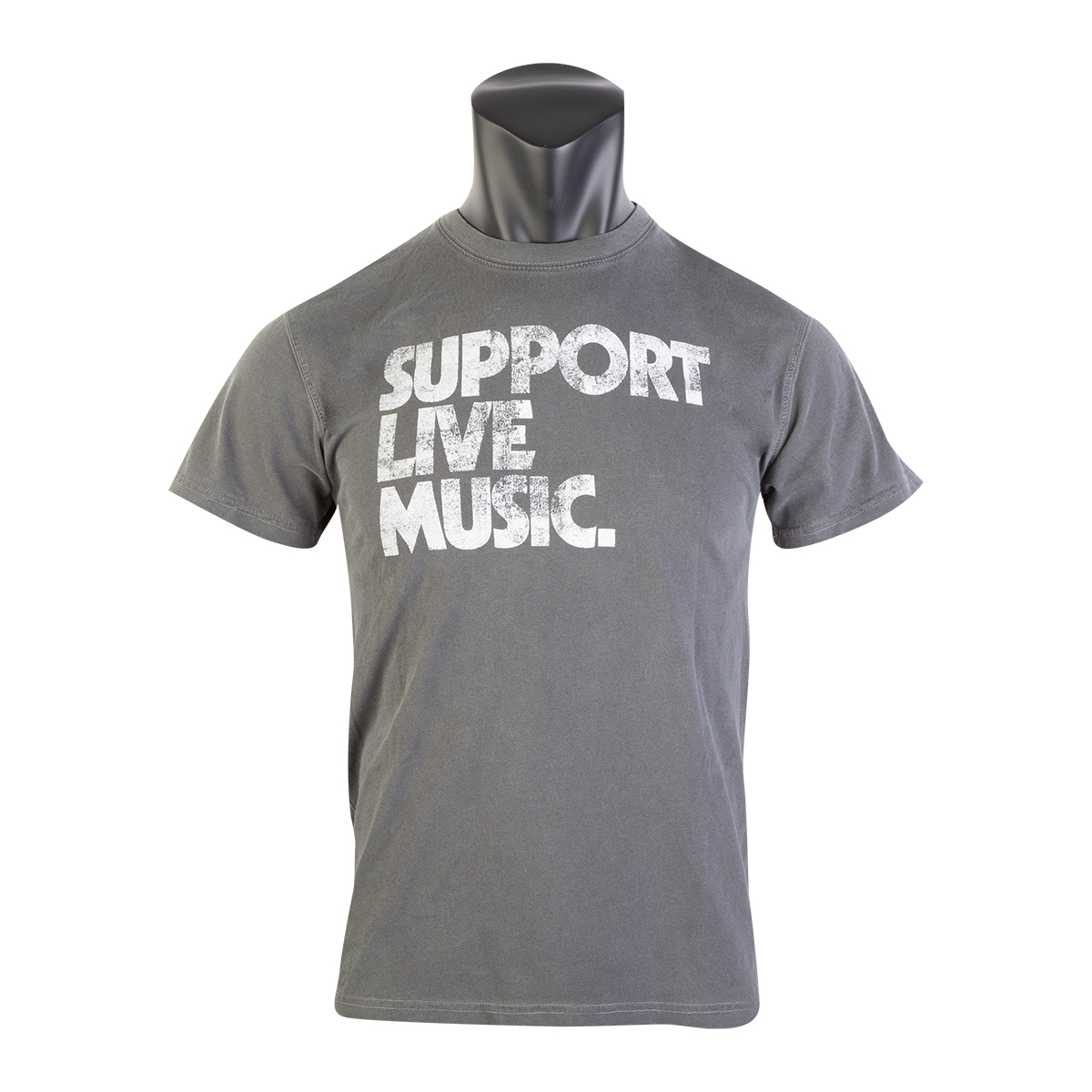 Support Live Music Gray Unisex T-Shirt