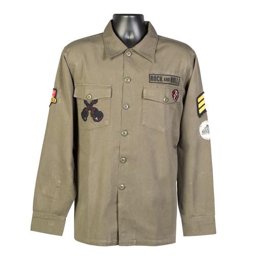 Military Green Woven Shirt