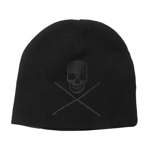 Skull With Drumsticks Knit Cap