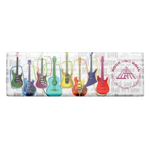 Colorful Guitar Collage Magnet