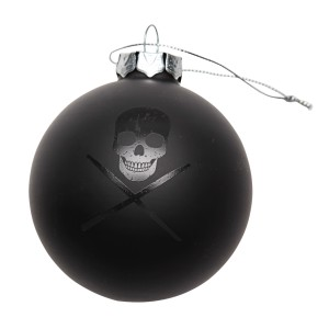 Skull With Drumsticks Ornament