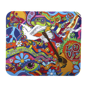 LIFE LOVE AND MUSIC MOUSE PAD