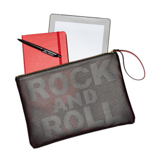 Rock And Roll Wristlet Black