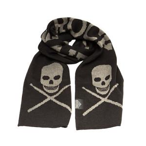 Skull & Drumsticks Knit Scarf