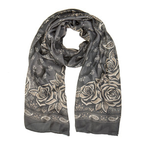 Black Rose Bandana Scarf
