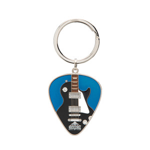 GUITAR IN PICK IRIDESCENT BLUE KEYRING