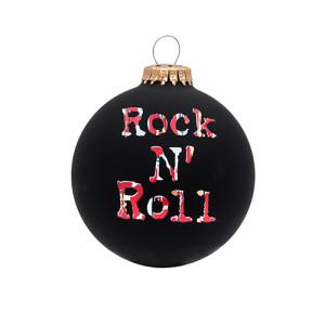 BLACK ROCK N ROLL ORNAMENT
