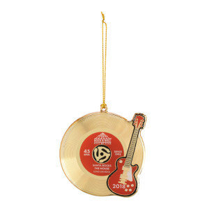 Gold 45 Record Ornament