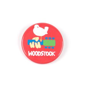 Bird On Guitar Woodstock Button