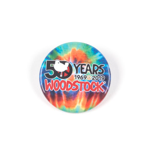 50Th Annivesary Tie Dye Woodstock Button