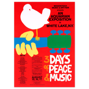 Official Woodstock Postcard