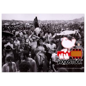 Woodstock 50Th Anniversary Crowd Scene Postcard