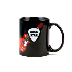 Rock Star Guitar Pick Black Mug