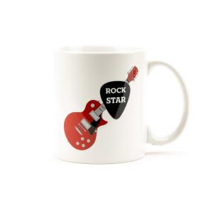 Rock Star Guitar Pick White Mug