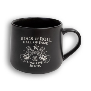 Etched Long Live Rock Double Guitar Mug