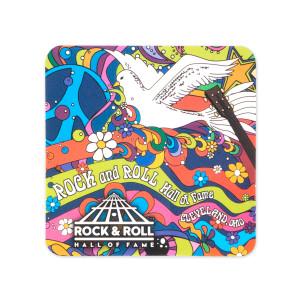 60S Dove Square Sticker