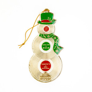 Record Snowman Ornament