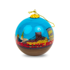 Hand-Painted Rock Hall Skyline Ornament