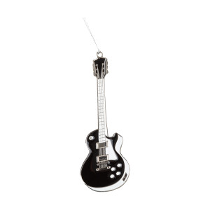 Black & White Guitar Ornament