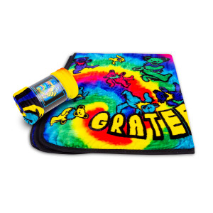 Grateful Dead Spiral Bears Fleece Throws