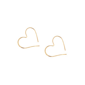 Heart Hoop Earrings Gold
