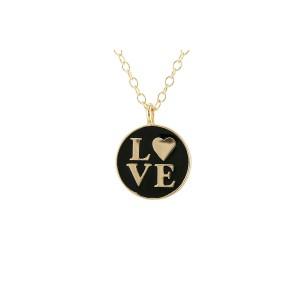 Love Enamel Charm Necklace