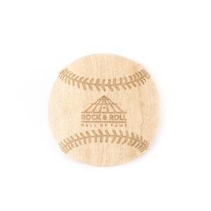 Etched Baseball Wooden Coaster